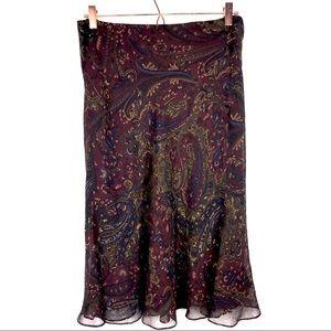 Lauren Ralph Lauren Petite Silk Midi Skirt